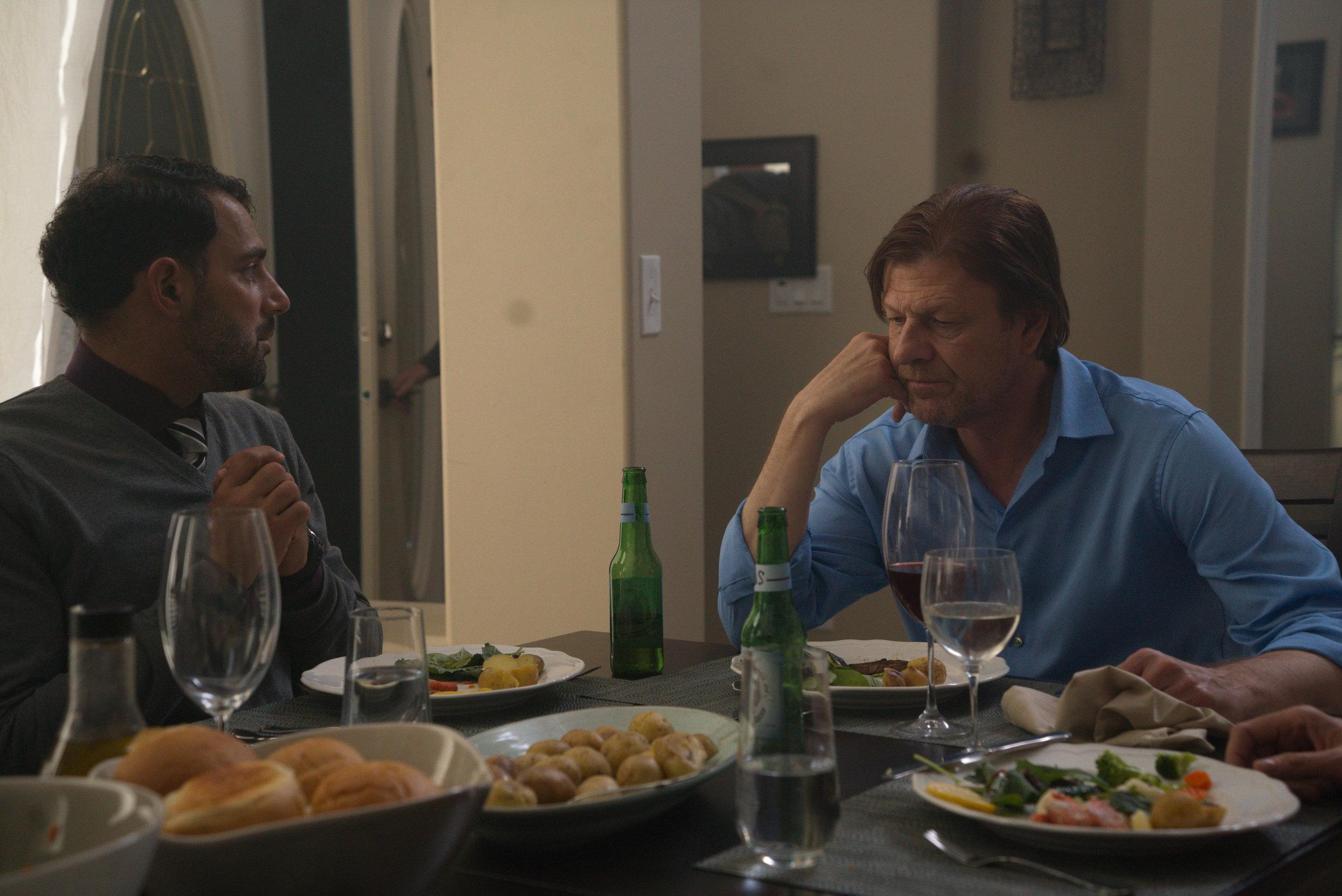 Patrick Sabongui as Imir and Sean Bean as Neil in  Drone .