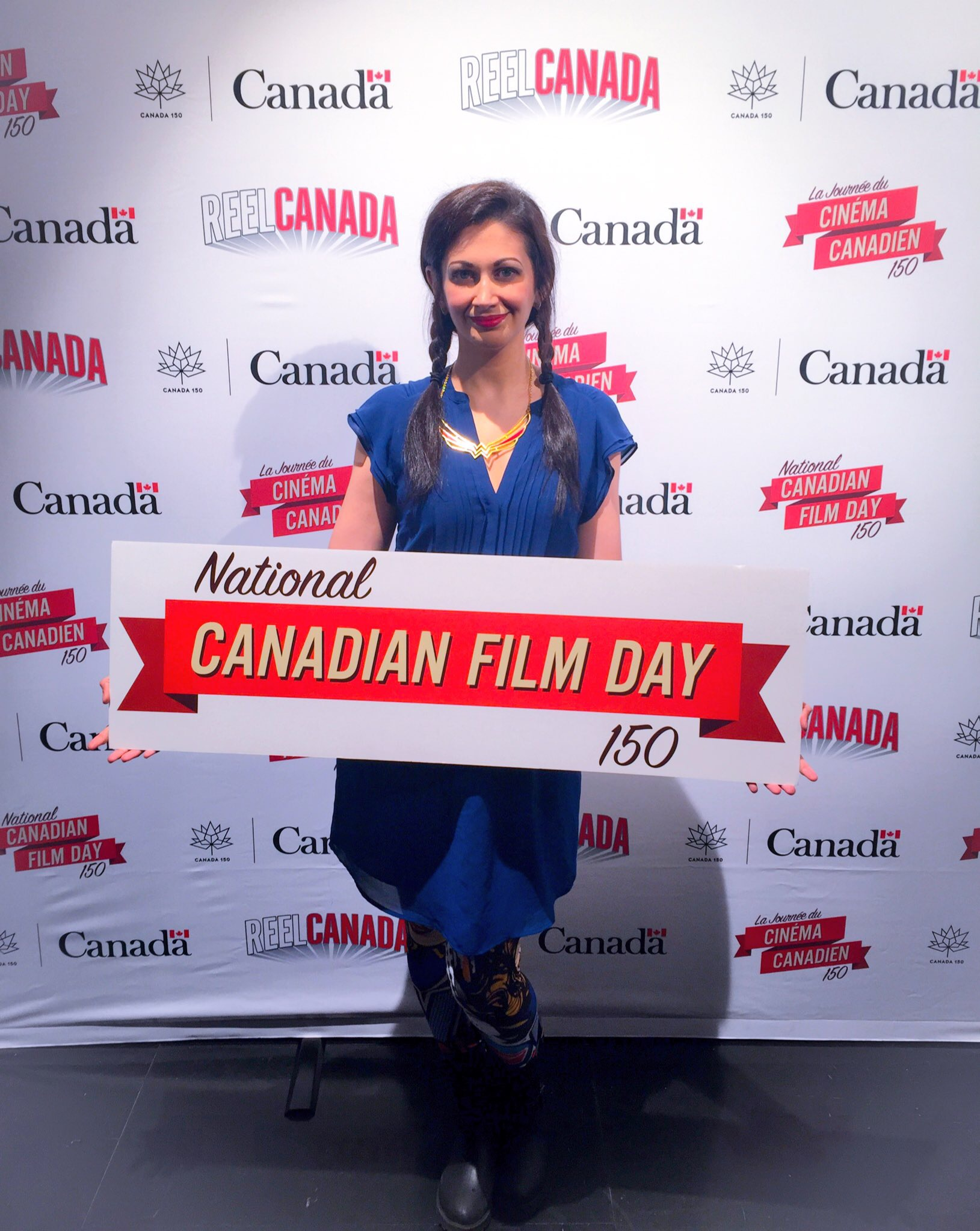 Unabashed year-round lover of Canadian film Sabrina Furminger at a #CanFilmDay event.