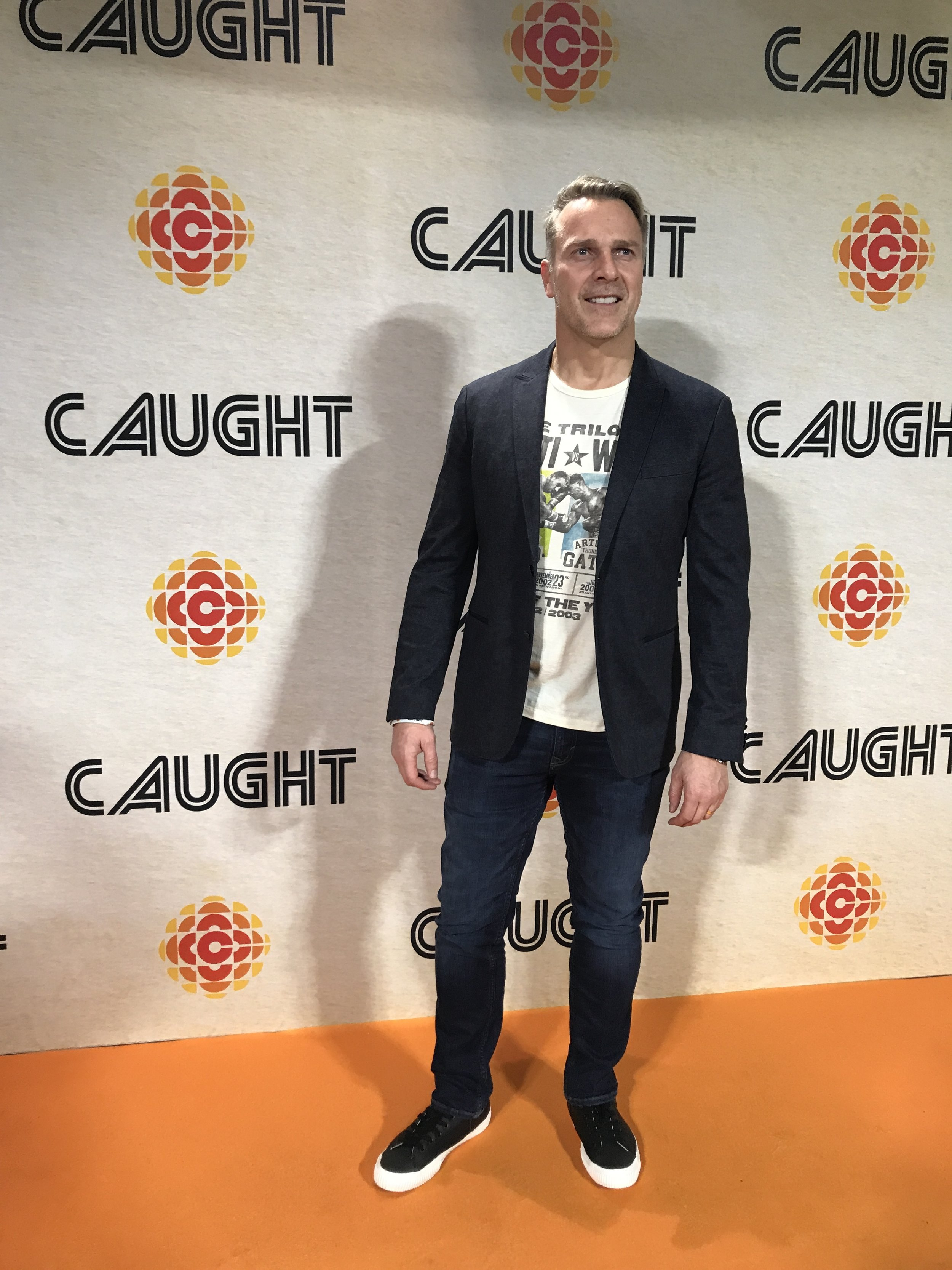 Mike Dopud at the  Caught  launch event in Toronto in February 2018.