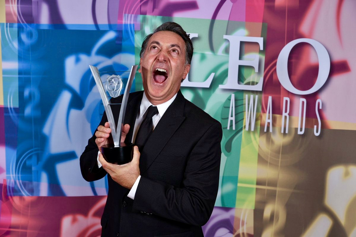 Host Peter Kelamis won a Leo Award for Best Voice Performance in an Animated Series for  Chucks Choice . Photo courtesy of the Leo Awards