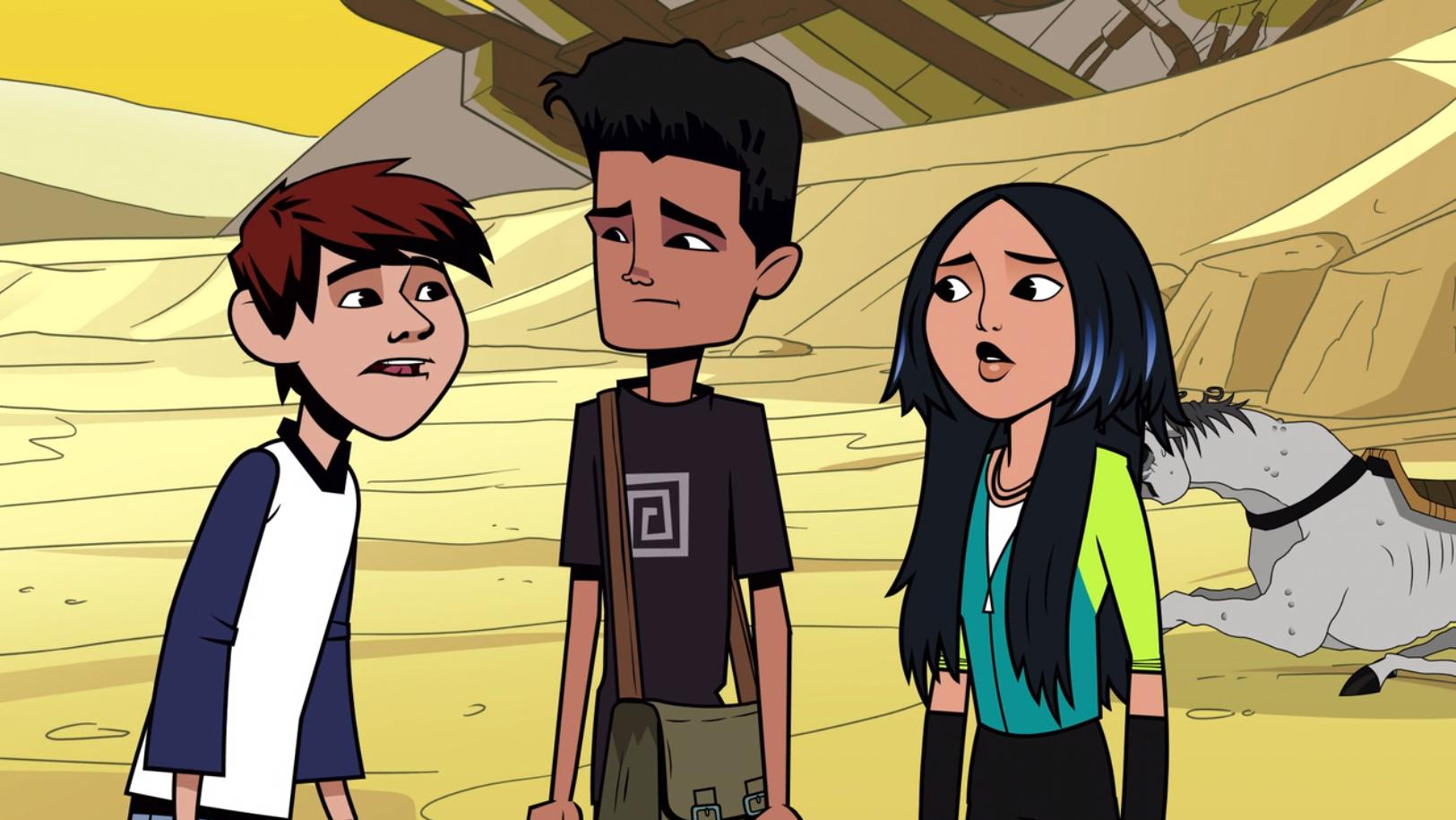 Kai, Adam, and Mira in  The Hollow .