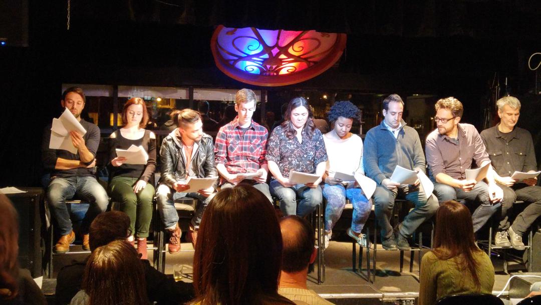 Actors making magic at the Cold Reading Series.