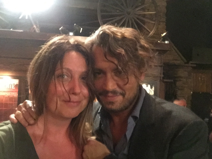 Justine Warrington and Johnny Depp. Contributed photo