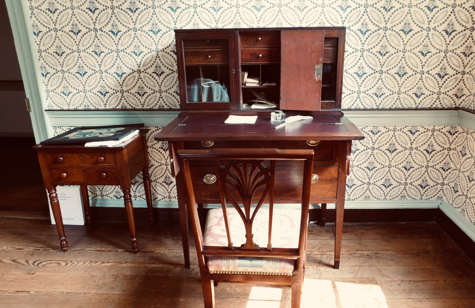 Writing desk from the master bedroom in the John Marshall House, Richmond, VA.