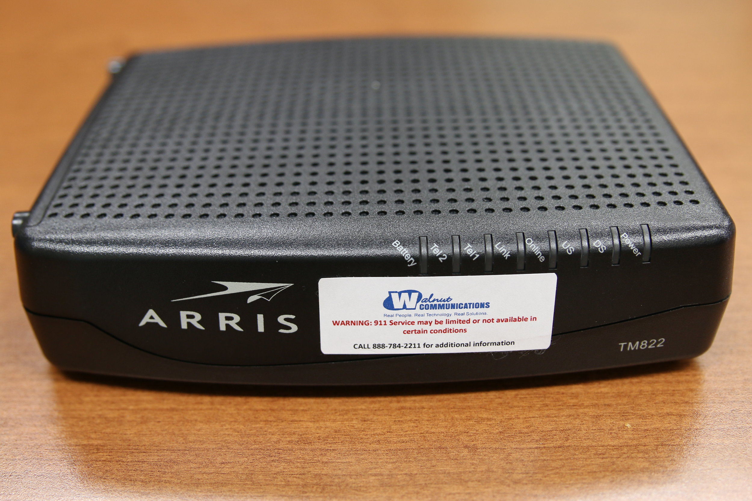 Cable Modem with Phone - front