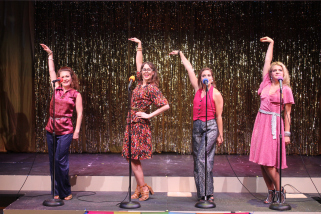 Melissa Robinette*, Melissa Weisbach*, Kim Morgan Dean* and Elizabeth Doyle* in GVT's 2017 production of  The Marvelous Wonderettes: Dream On . (Photo Courtesy / Greenbrier Valley Theatre) *denotes member of Actors' Equity Association
