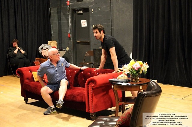 Ken Ludwig's A Comedy of Tenors opens this Friday with a Pay-What-You-Can Preview Night on Thursday.  A side-splitting ride from start to finish, Ken Ludwig's comedy is non-stop hilarity.  To purchase tickets, visit https://bit.ly/2XVHuLI or call the box office at 304-645-3838.