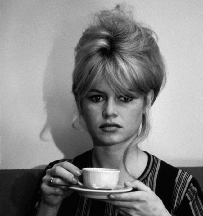 Brigitte Bardot on the set of Le Mépris