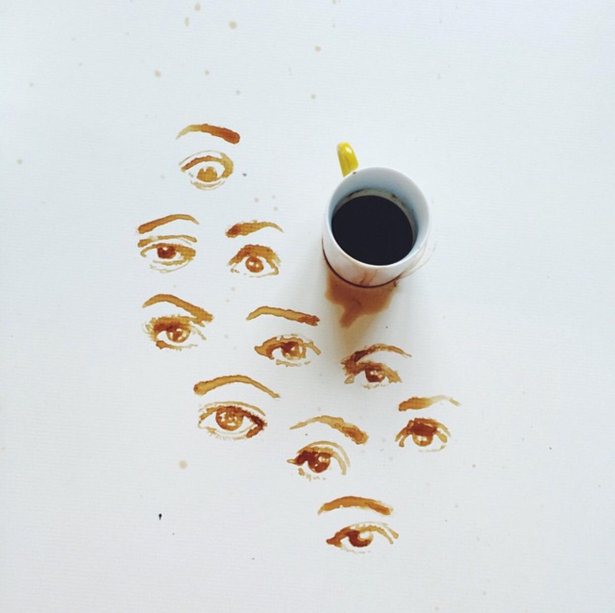 Coffee art by  Giulia Bernardelli