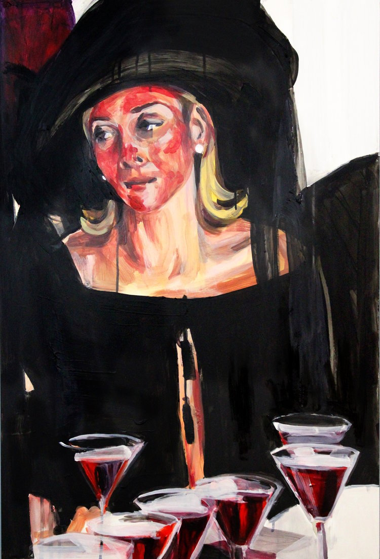 Samantha Jones after a chemical peel, painted by Laura Collins