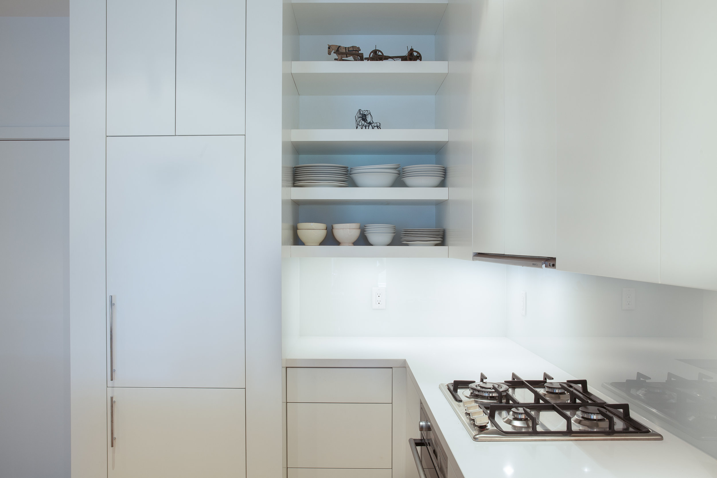 Clean kitchen design photography