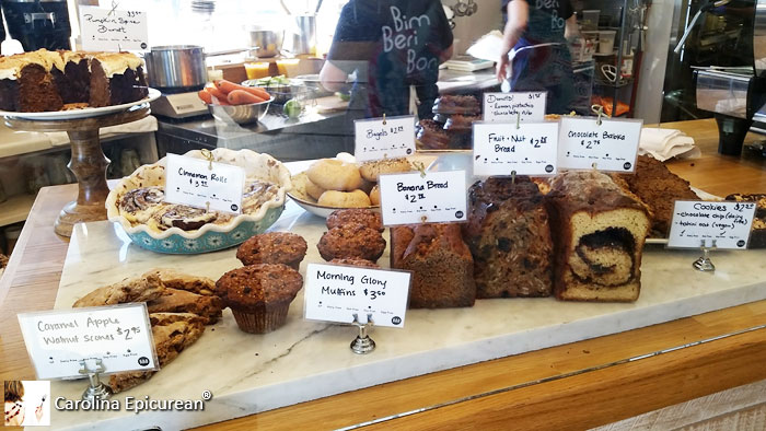 After ordering, be sure to walk the length of the counter, noting the espresso station and a bakery that puts out gorgeous breads and sweets.