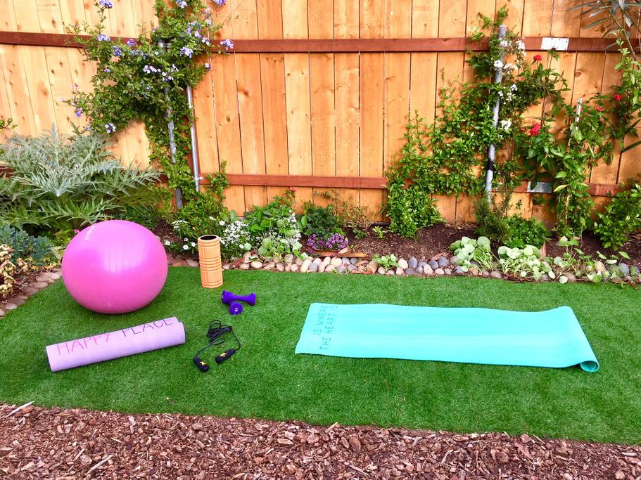 Stretch Out under the Sun on our private yoga patch.