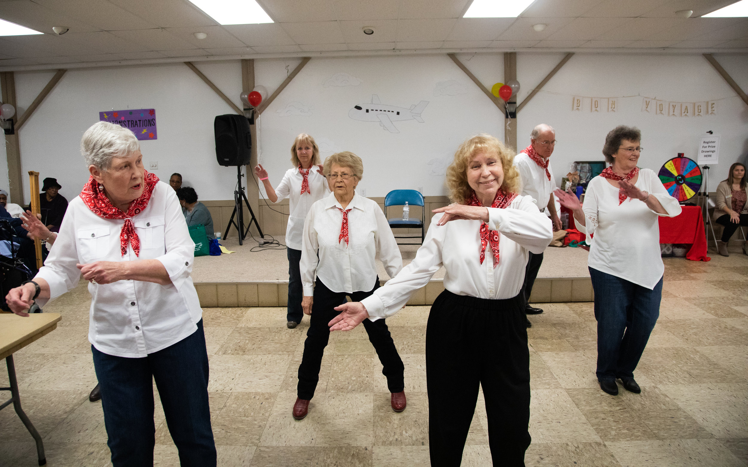 The Bedford County Line Dancers perform at the 50+ Health Fair at the Forest Recreation Center on Friday Feb. 22, 2019 in Lynchburg, VA. The group has been dancing for about two and a half years and has about 25 active members.