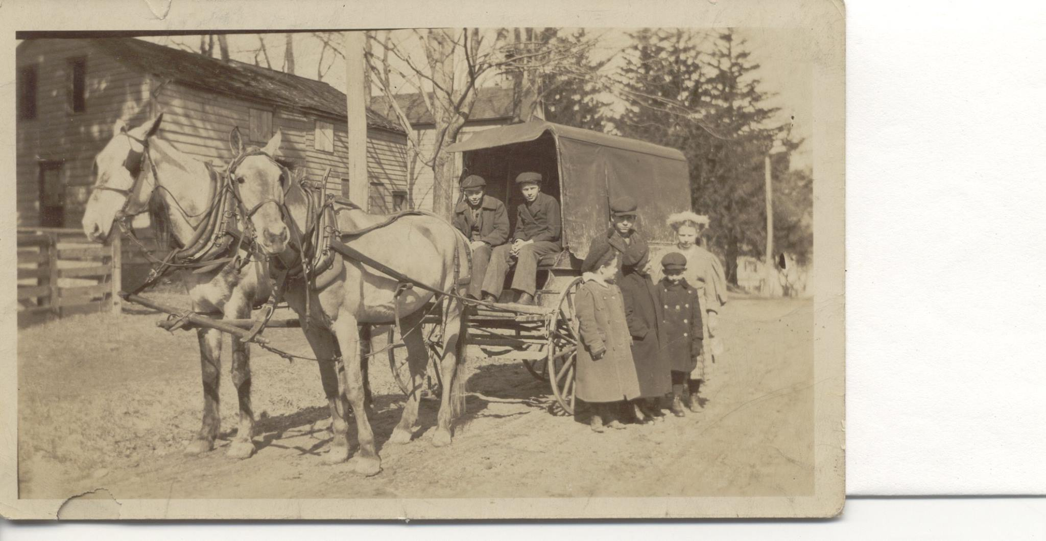 Bus to Amenia Union school 1910