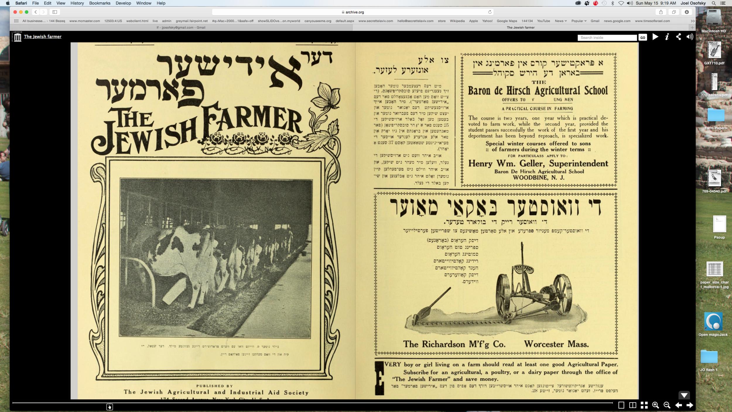 """""""The Jewish Farmer"""""""