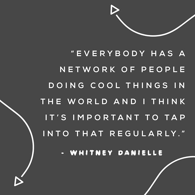 Successful people are often the most well connected and it's no coincidence that some of the biggest names across any industry have a solid set of people skills.  It's true. You do have a network of people that you can tap into. That's one of the cool things about being a human… you have a really good chance of knowing other humans.  Tag someone who's doing some cool things in the world 😎