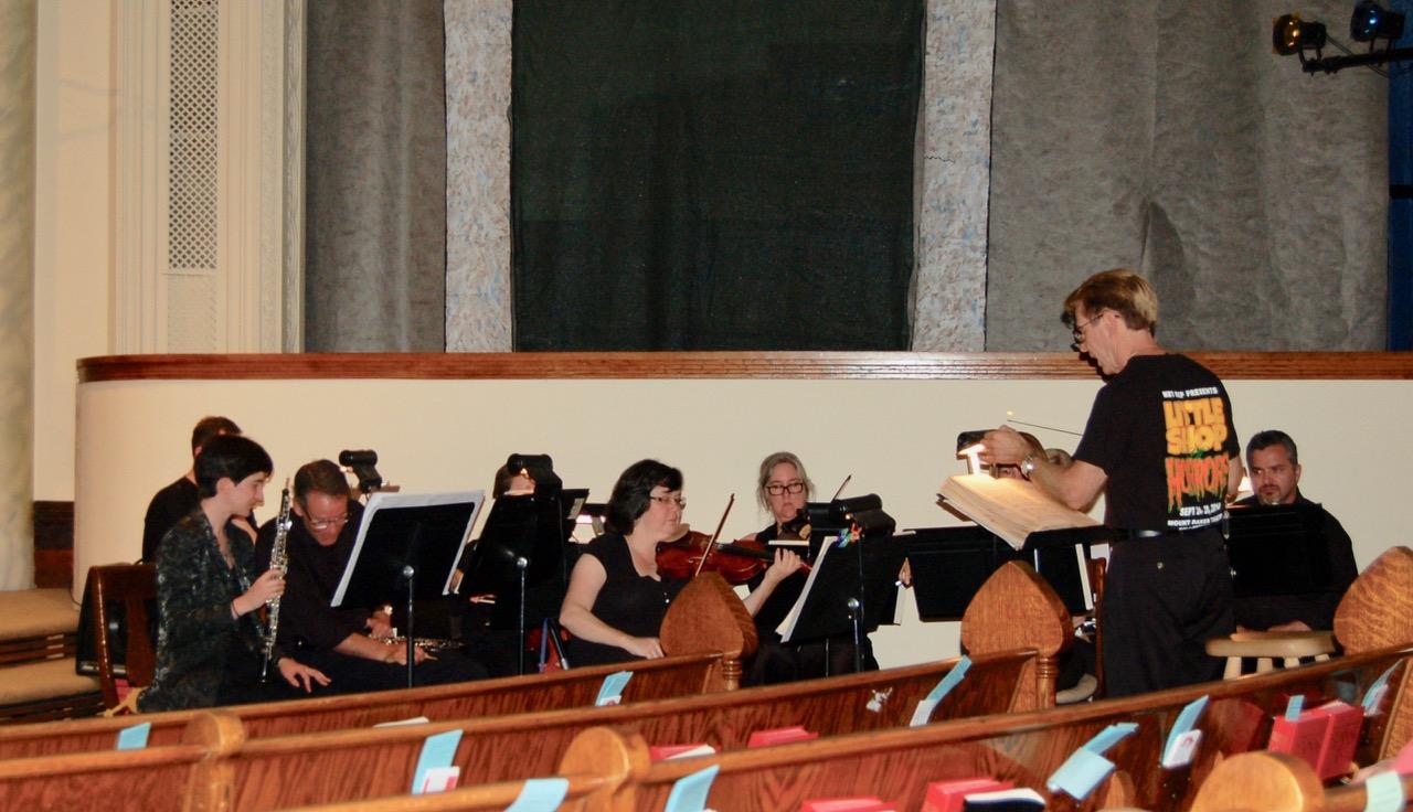 """Rehearsal for Handel's opera """"Samson""""."""