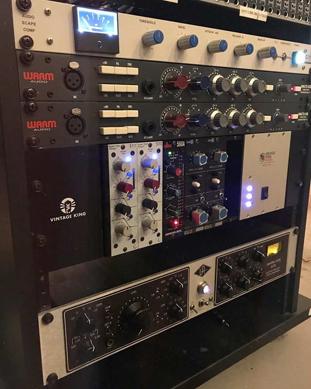 So excited to add the @audioscapeaudio G Comp to the rack! I've been wanting an outboard mix bus compressor for a while and I was lucky enough to win one in a contest! This thing blows away any SSL plugin that I own. It adds so much punch and excitement. So excited about this one!