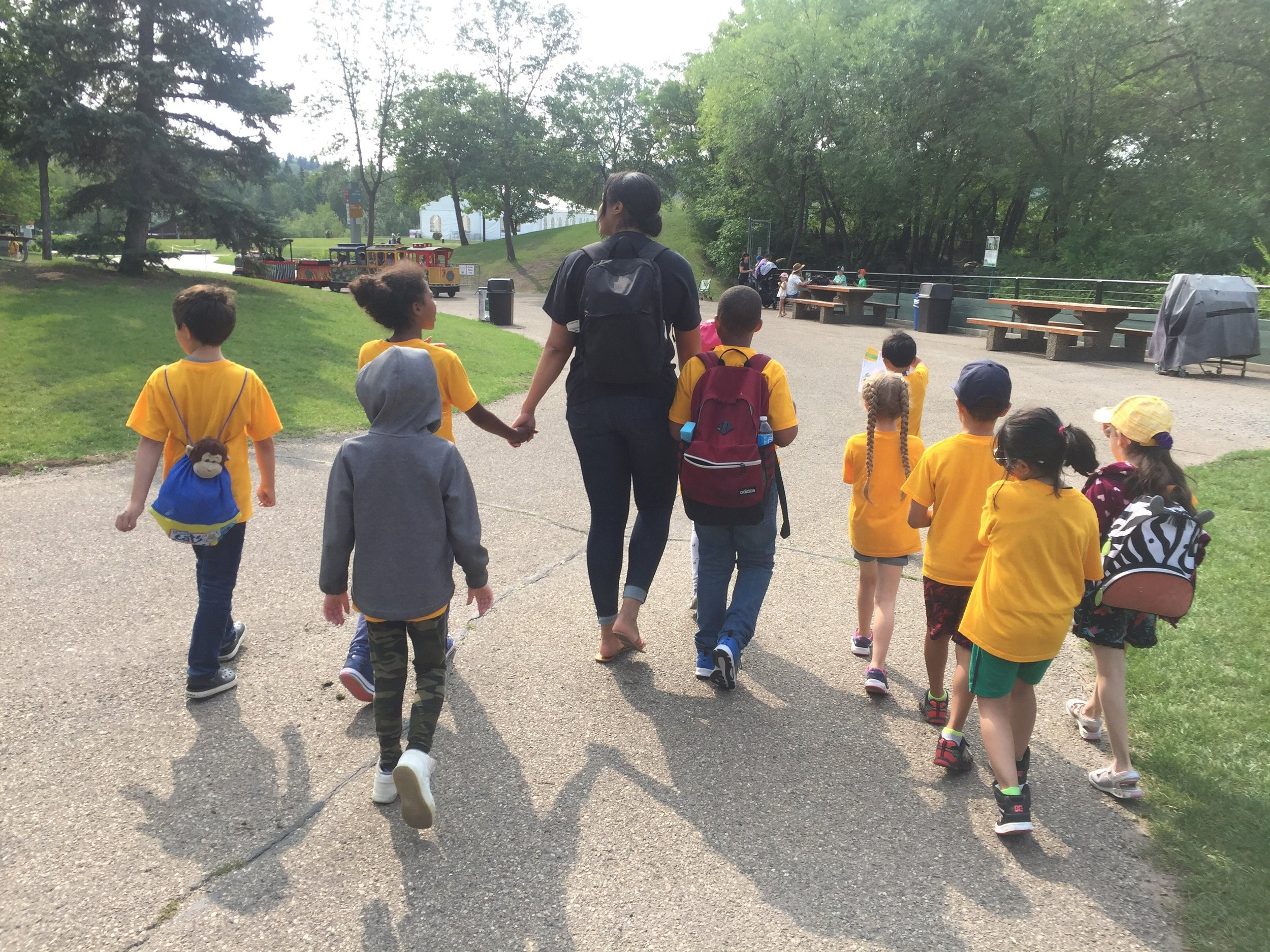 Students at Discovery Place enjoy nature based, child lead programming.