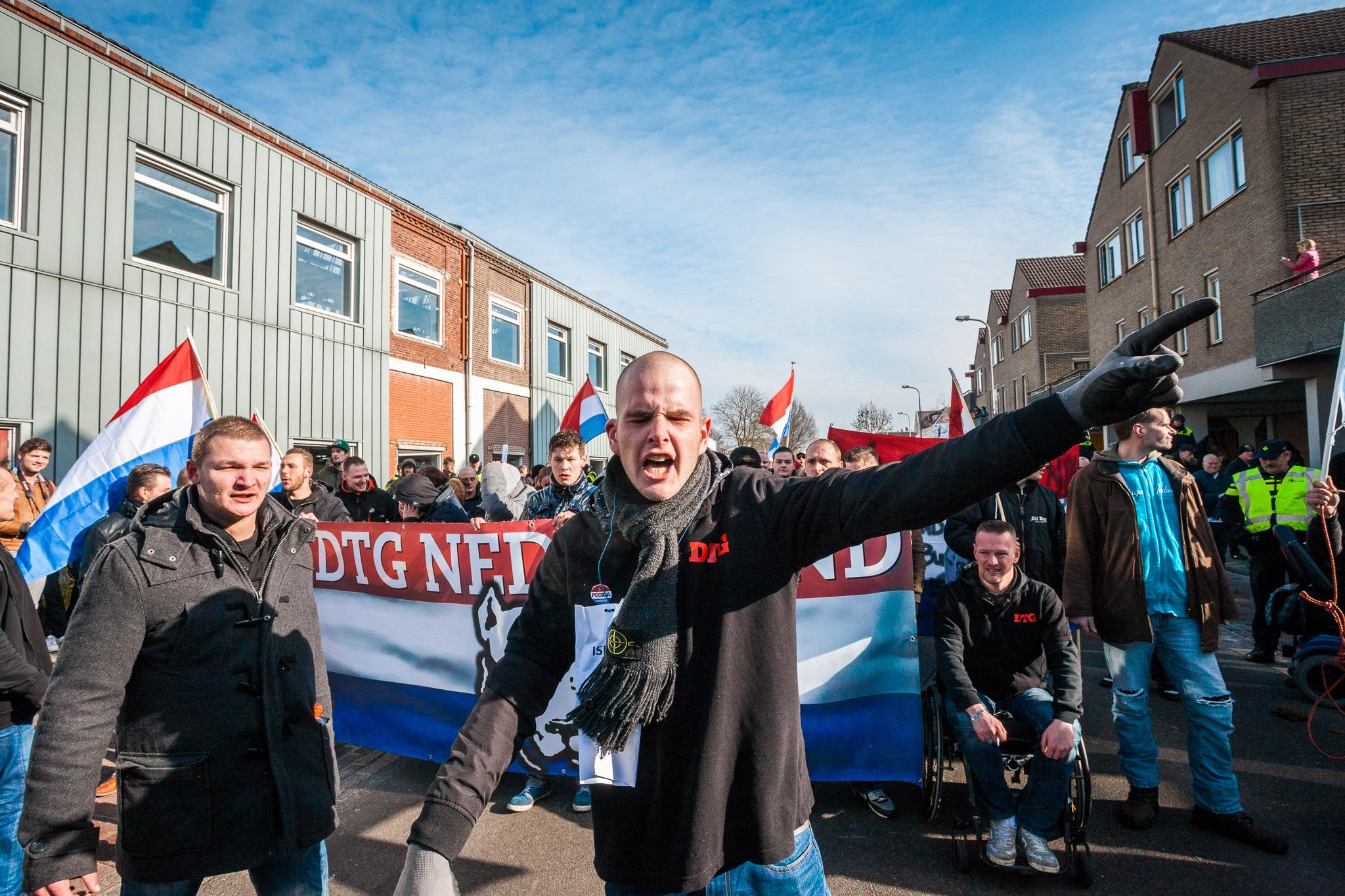 Demonstratie rechtse bewegingen enschede