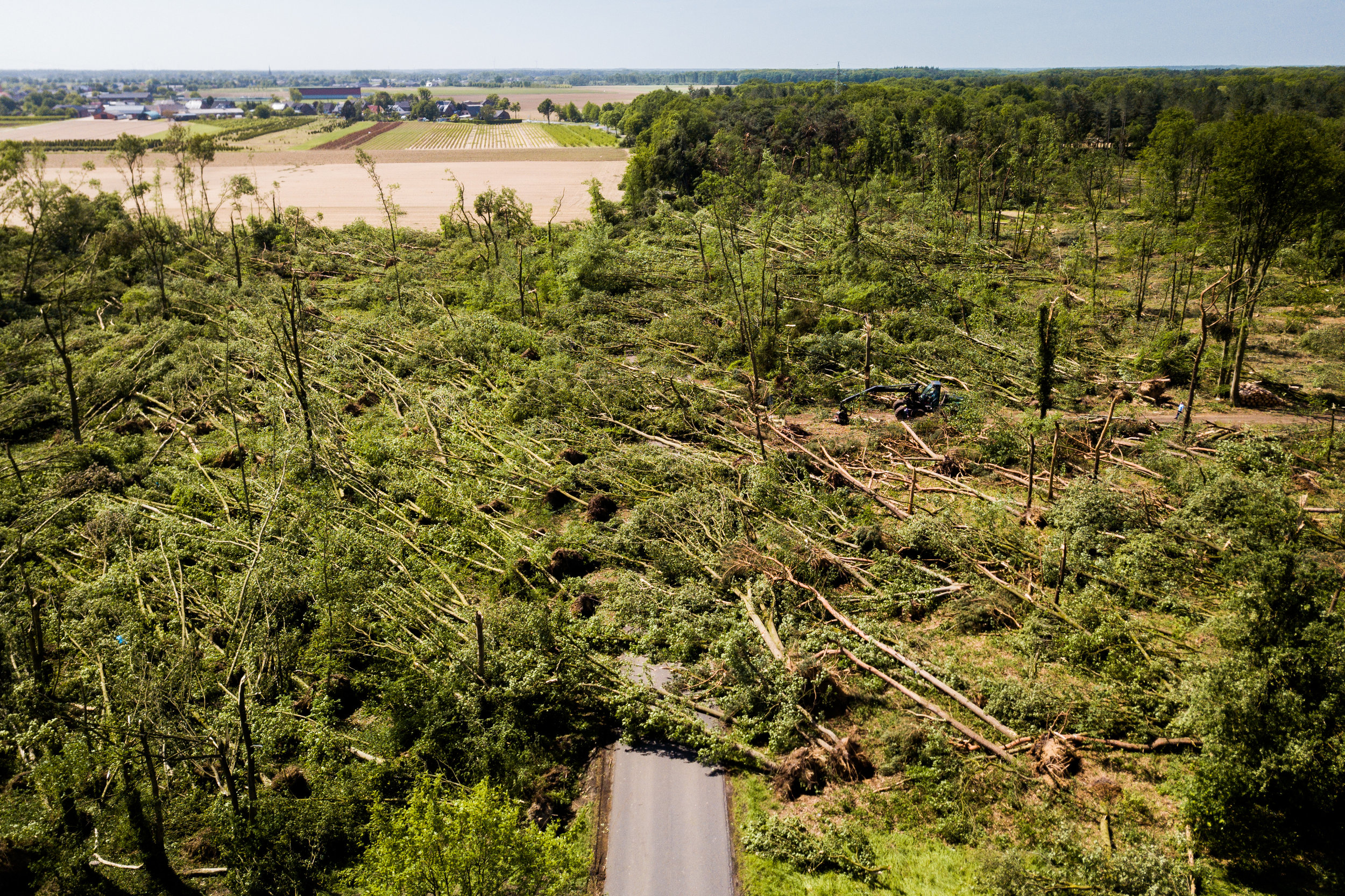 Enorme schade na tornado in Viersen (D)
