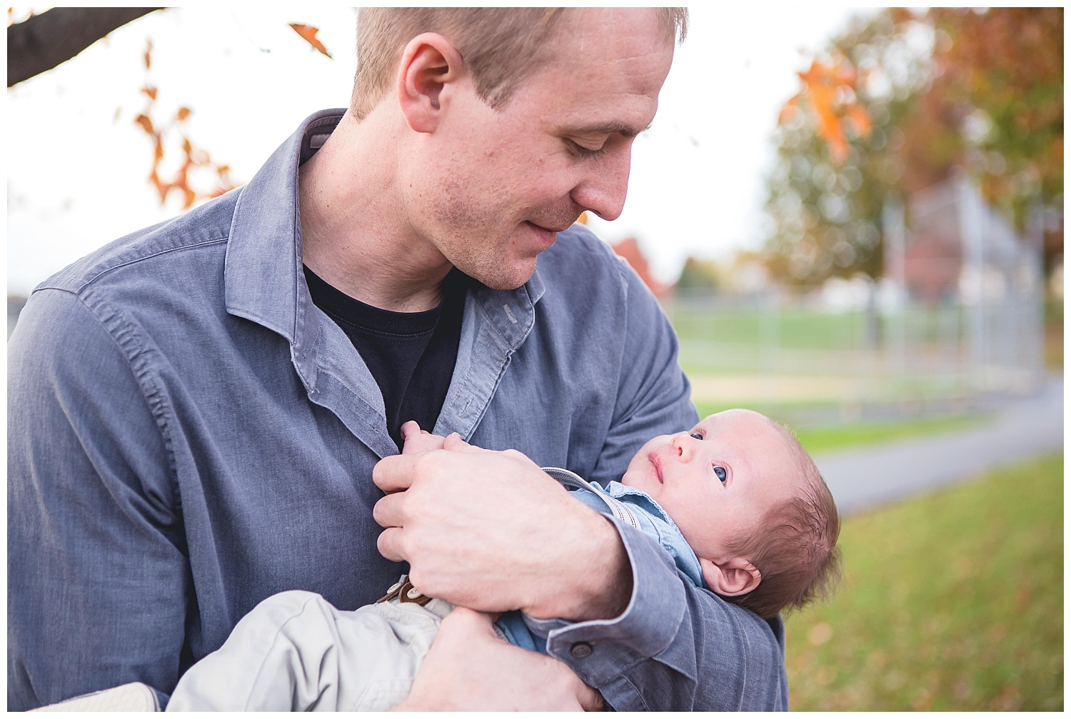 dad with baby son