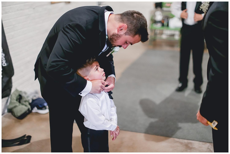 groom and ring bearer