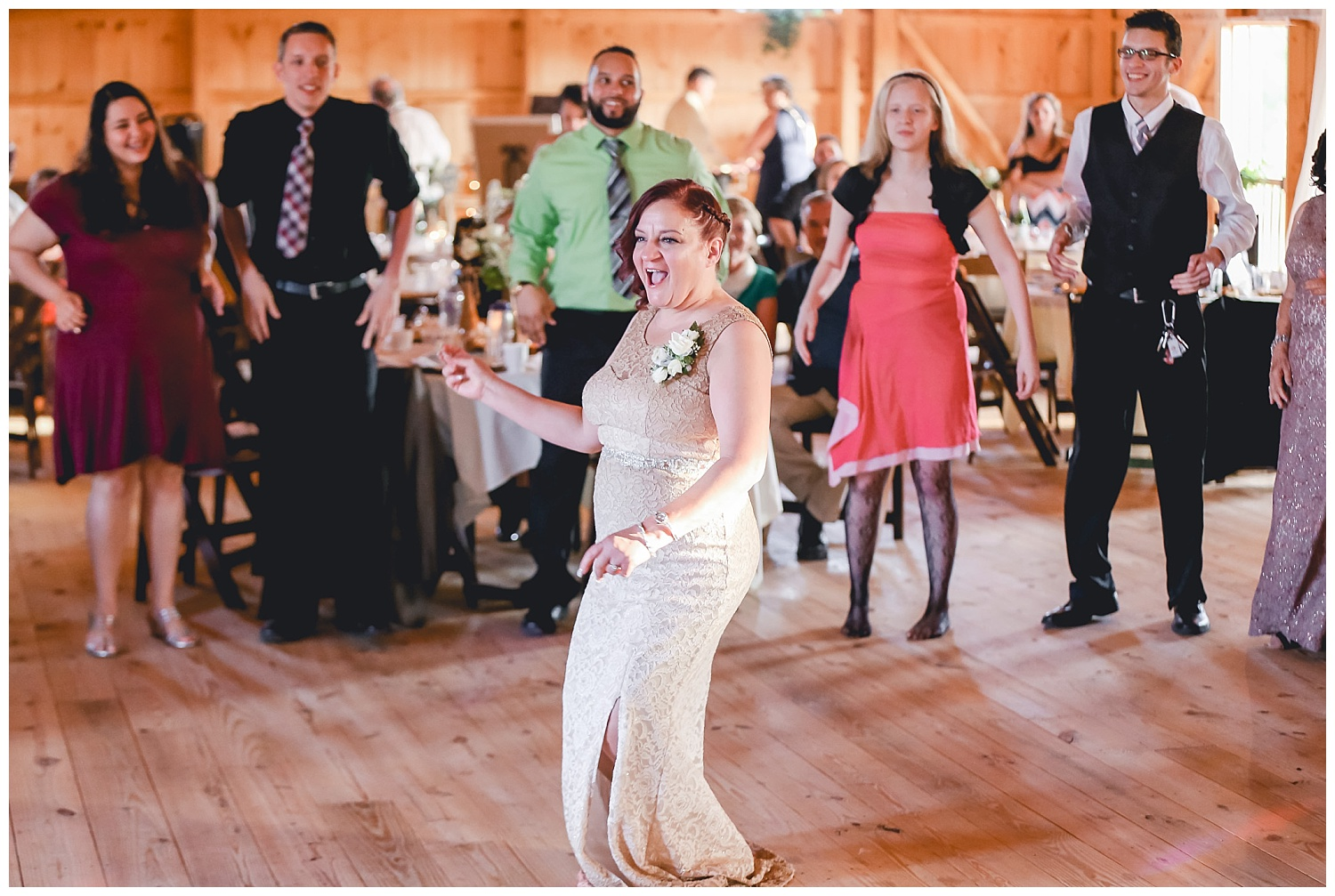 mother of bride dancing at reception