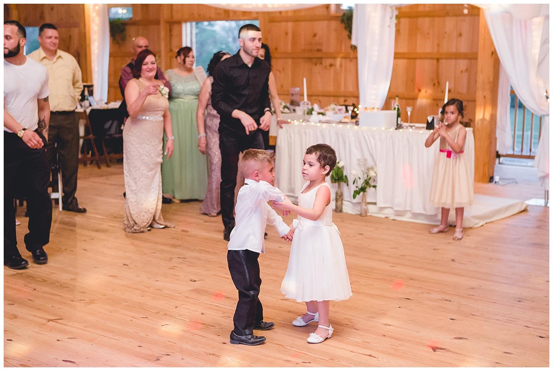 reception dancing kids