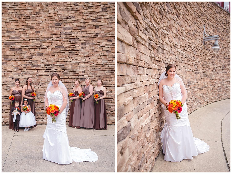 bride and bridesmaid portraits