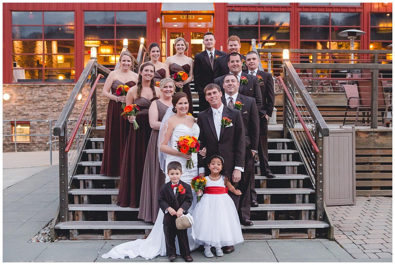 wedding party outdoor portrait