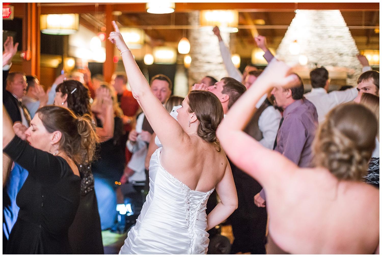 bride dances at reception