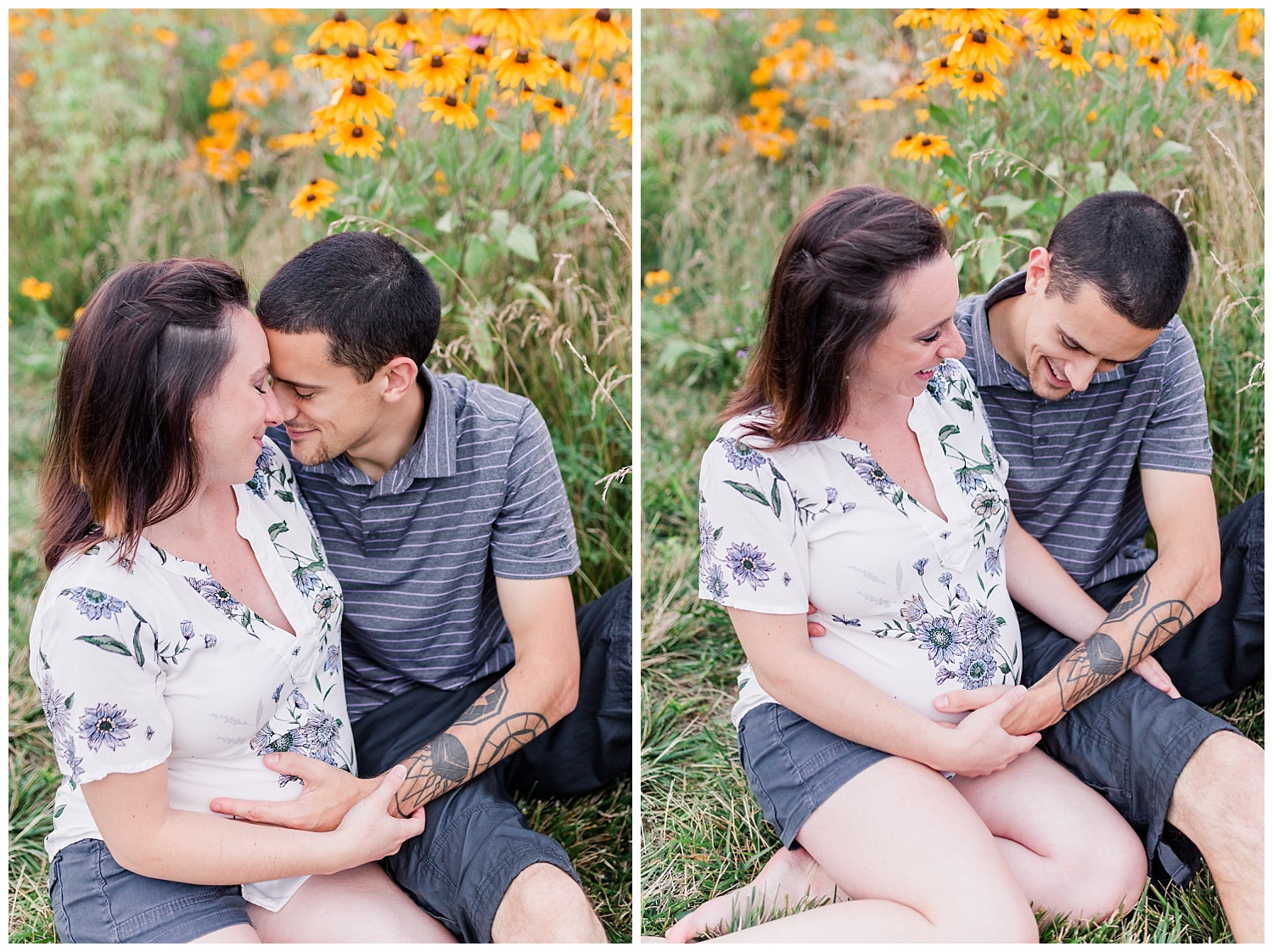 maternity pictures lititz pa wildflower field