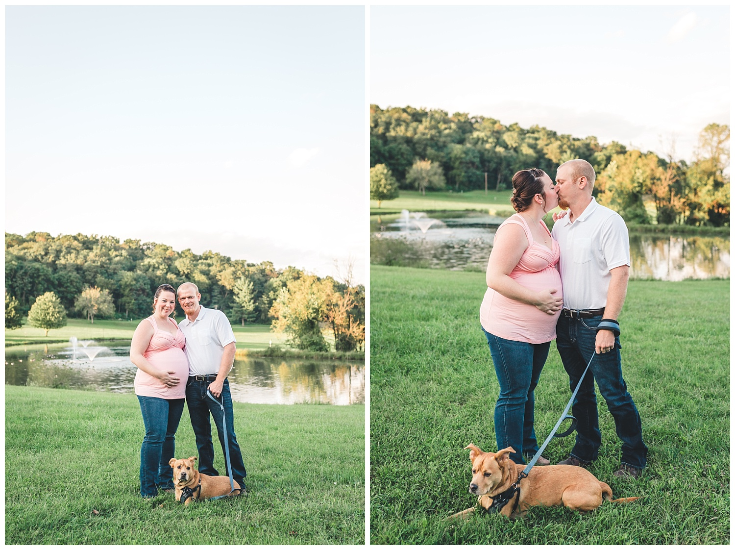 maternity session with dog ephrata pa