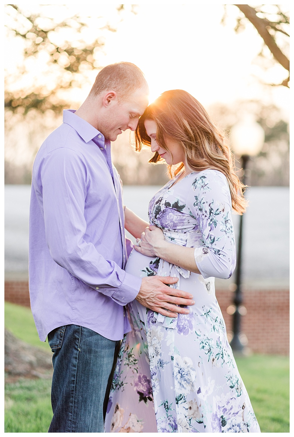 sunset spring maternity session