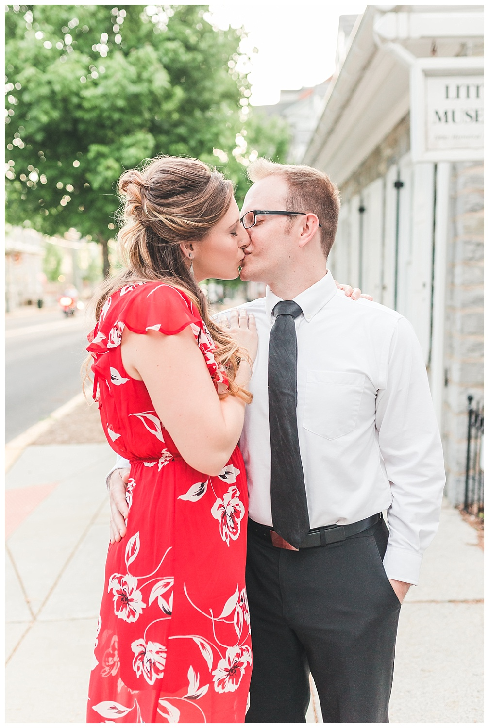 Downtown Lititz PA, spring anniversary session