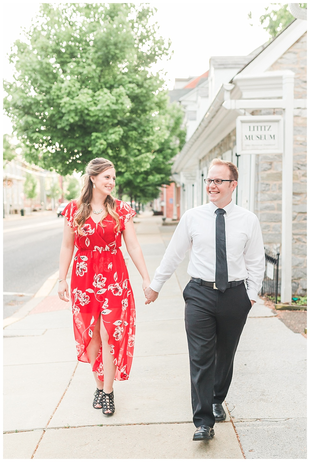 Downtown Lititz PA, spring anniversary session, what to wear