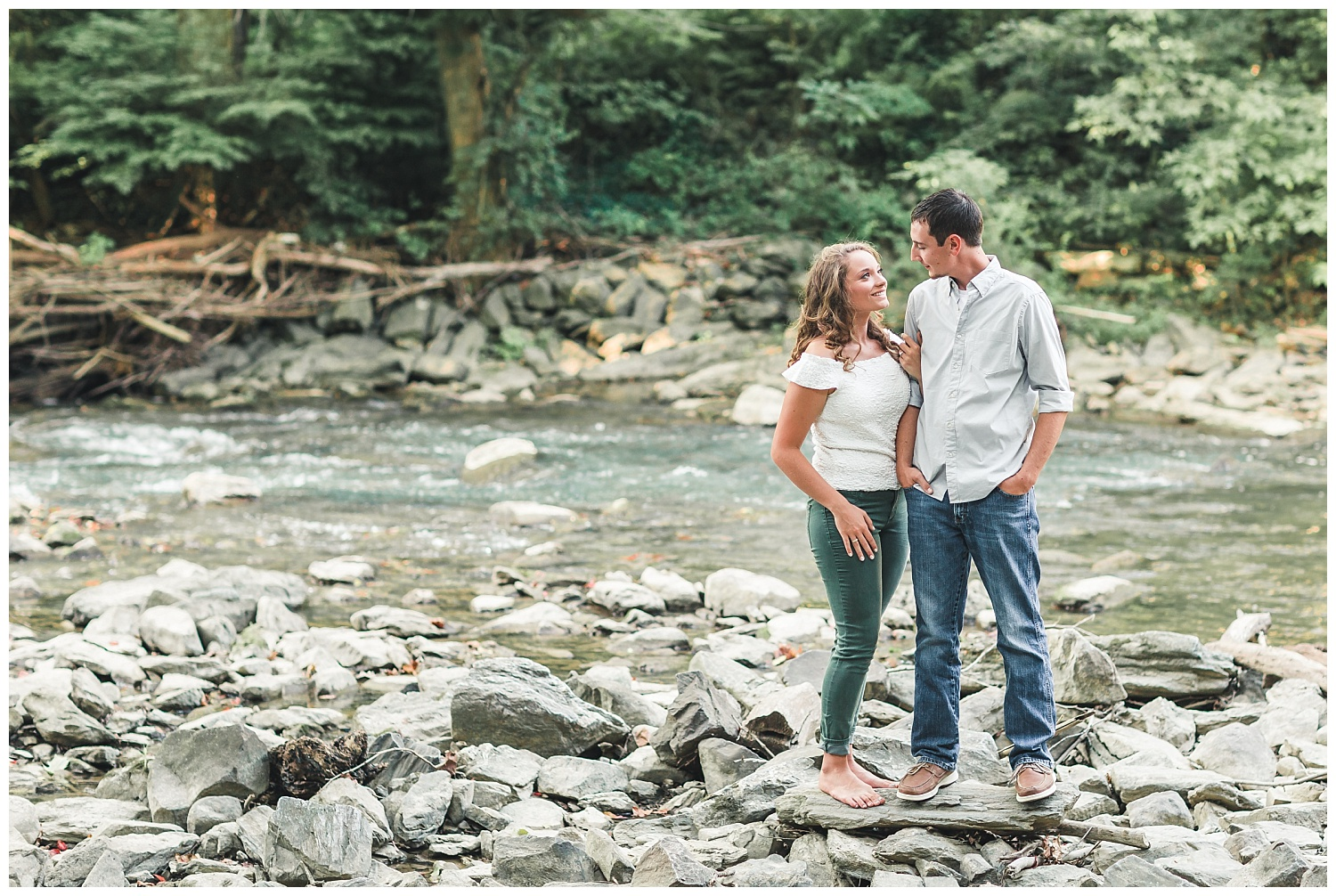 summer engagement session, the mill at manor falls, lancaster, pa
