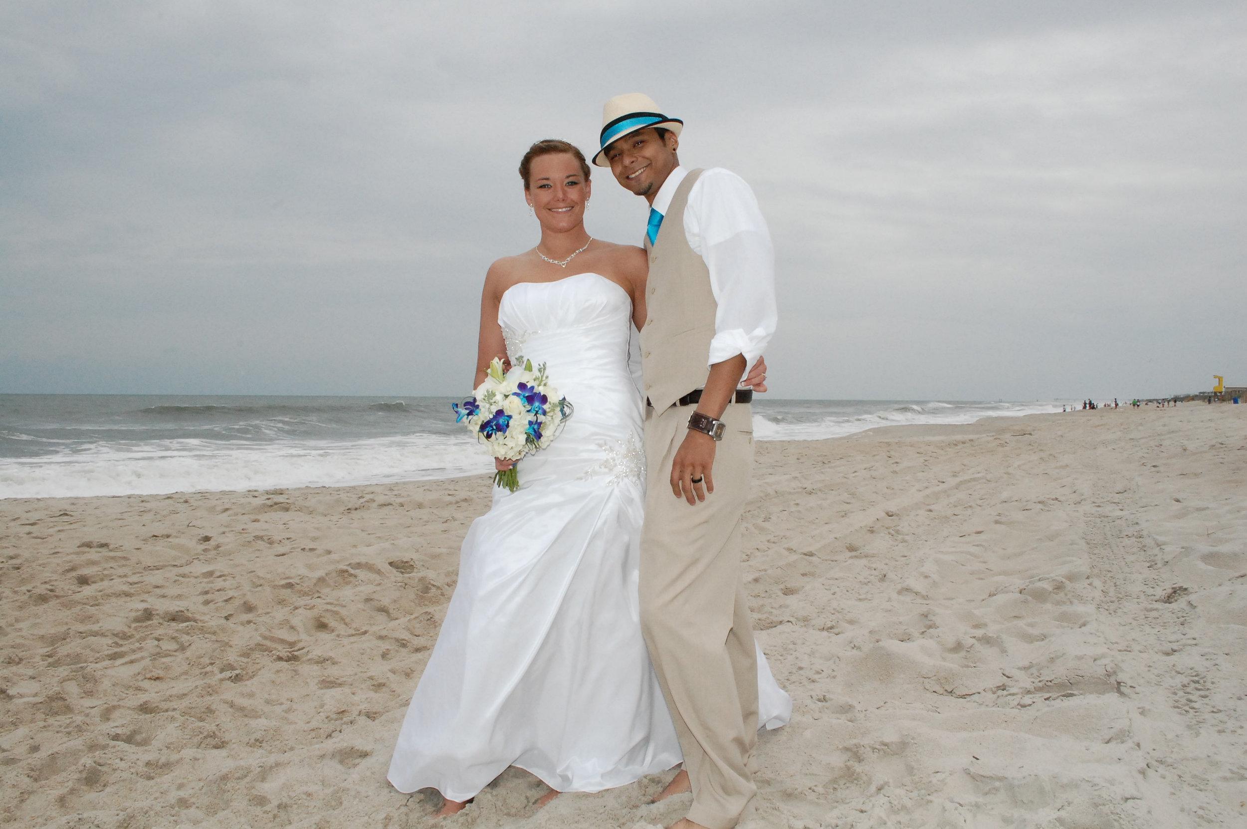 Oak Island Bride and Groom