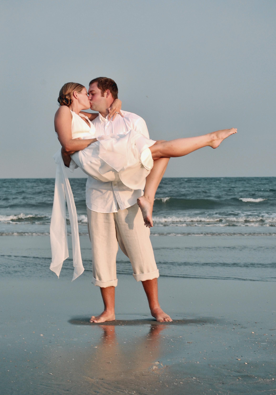 Groom pickup up bride at Oceans Edge.