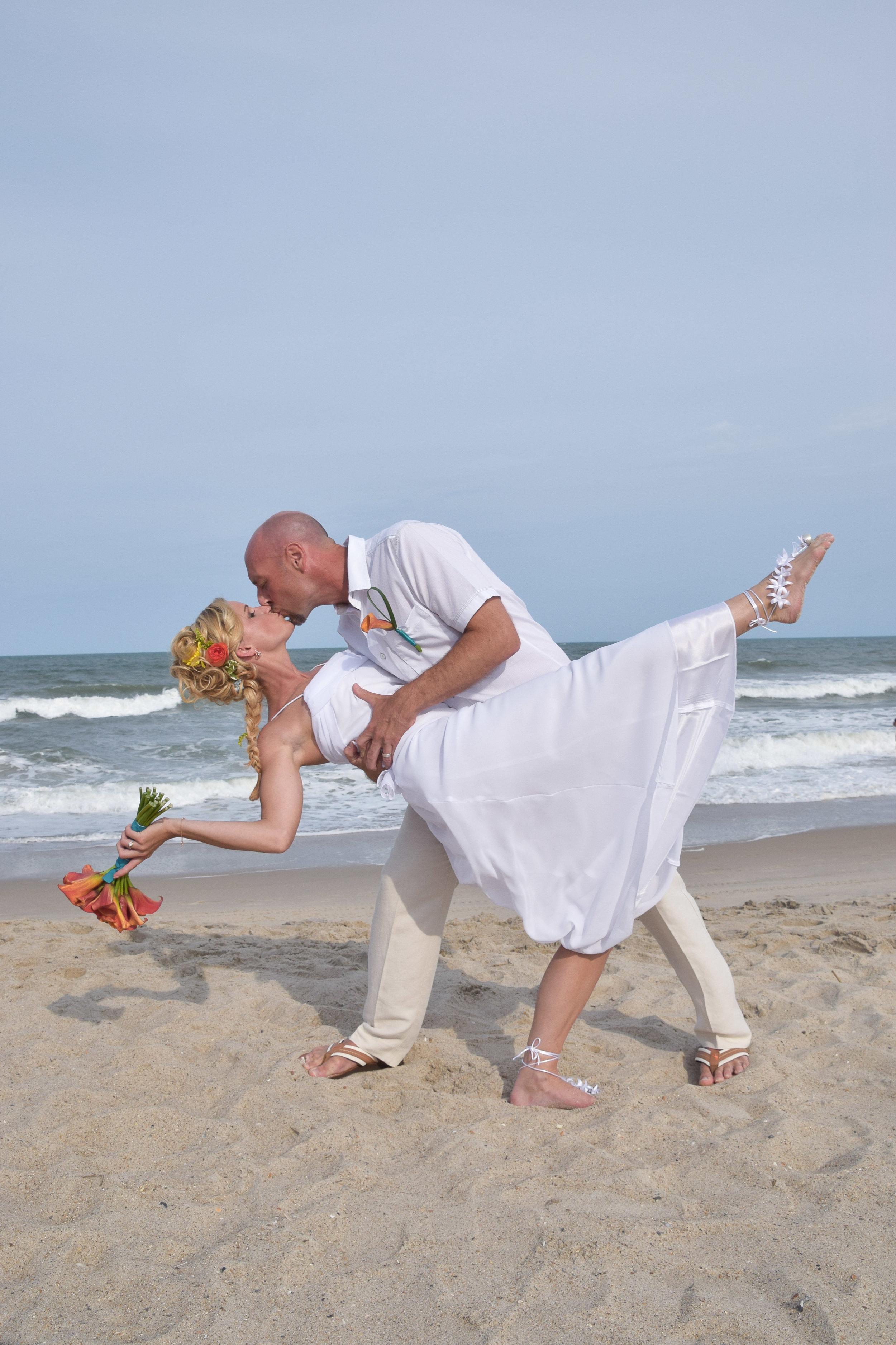 Beach Kiss and Dip.