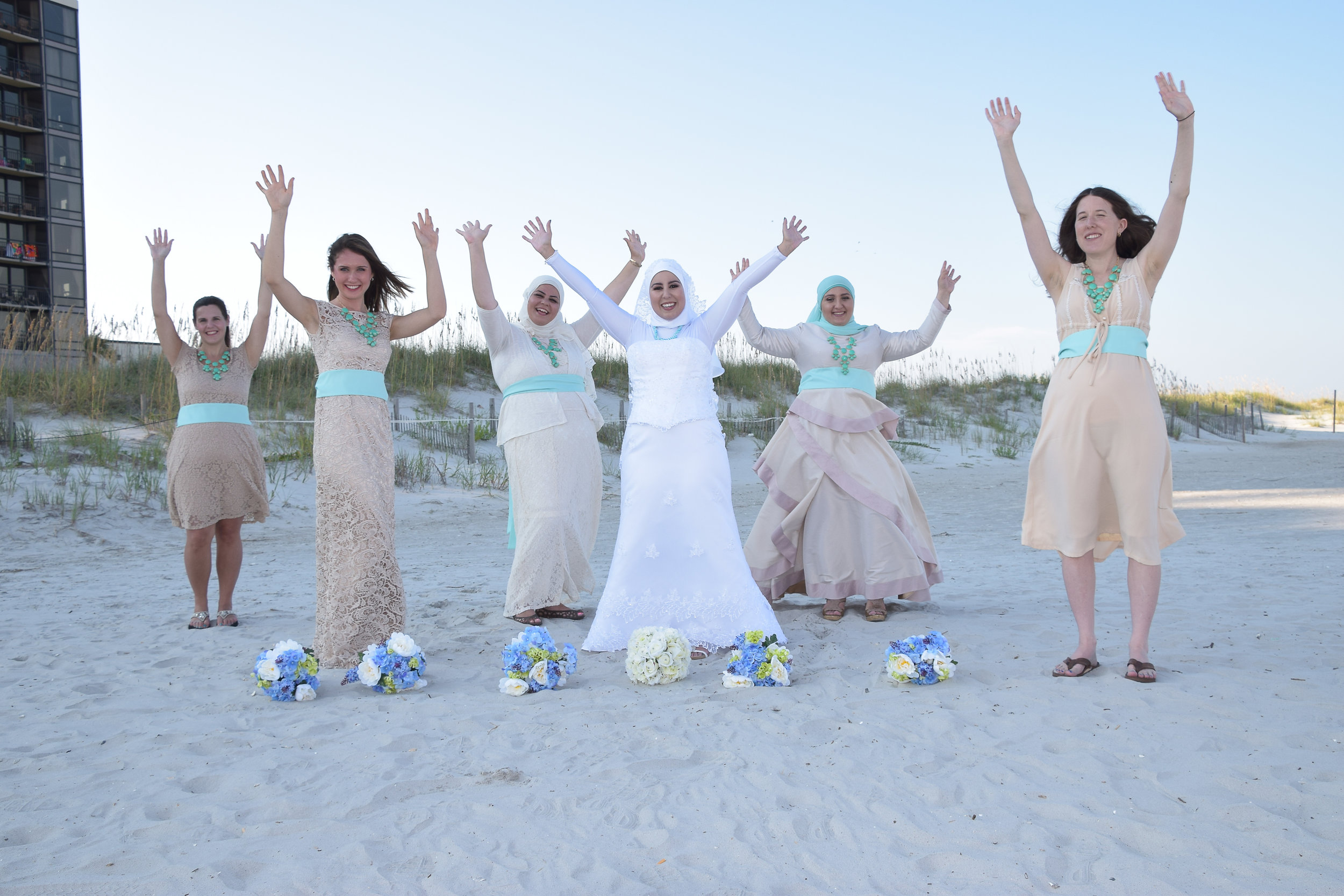 Bride and attendants.
