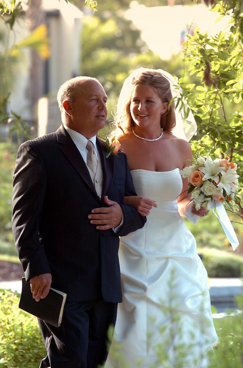 Dad walking Bride.