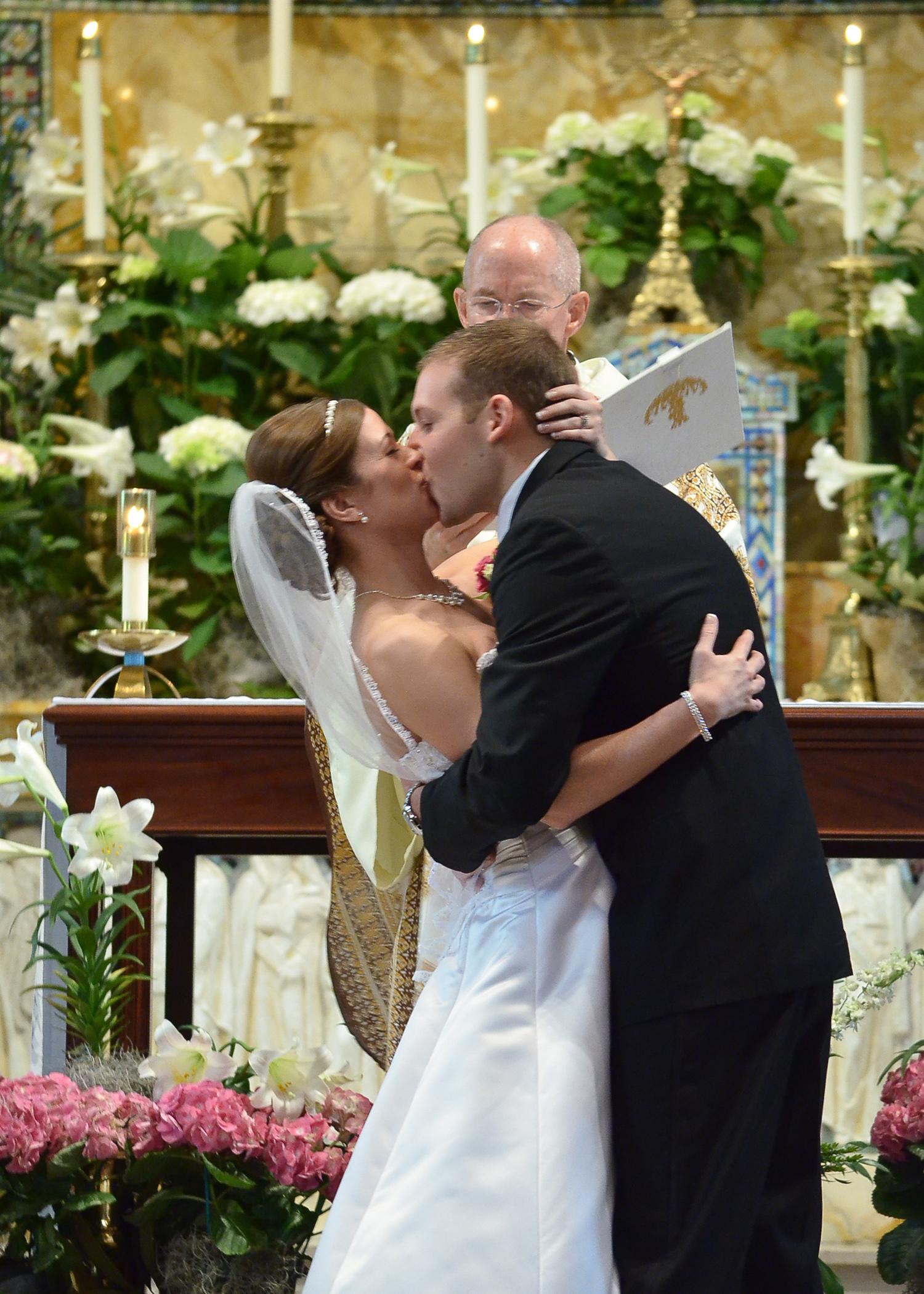 Altar kiss.