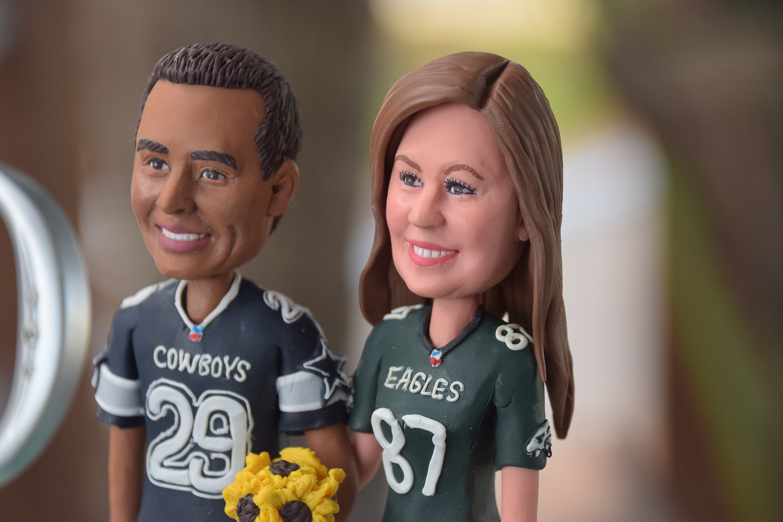 Bride and Groom Bobbleheads.