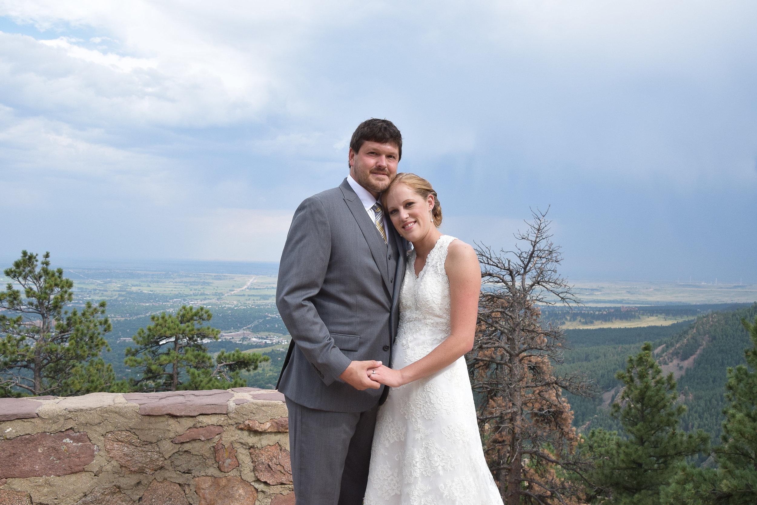 Bride and Groom Posing.
