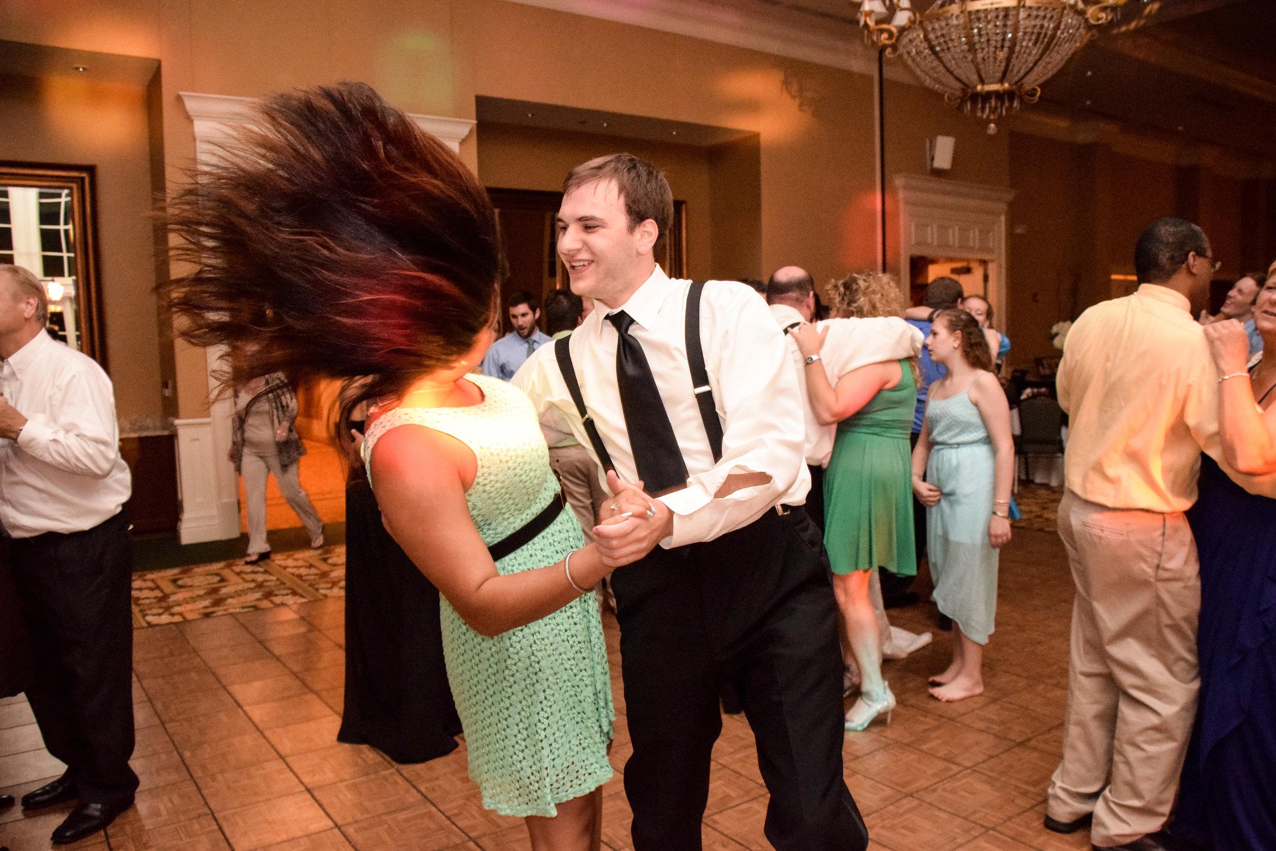 Crazy dance hair.