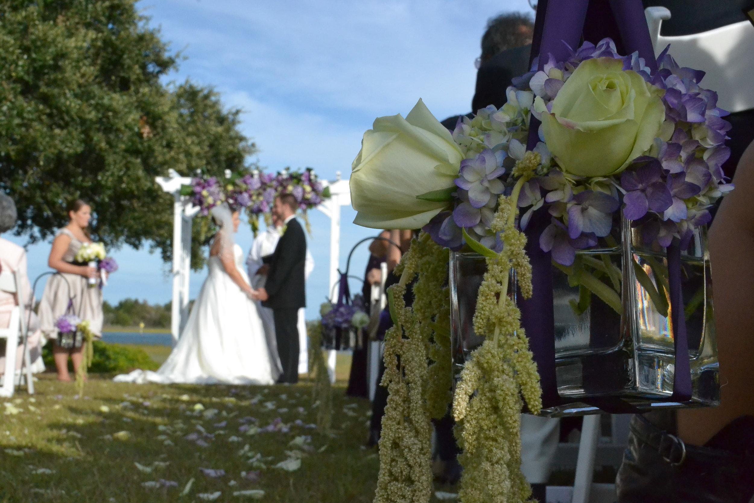 Wedding Ceremony on Intracoastal Waterway.