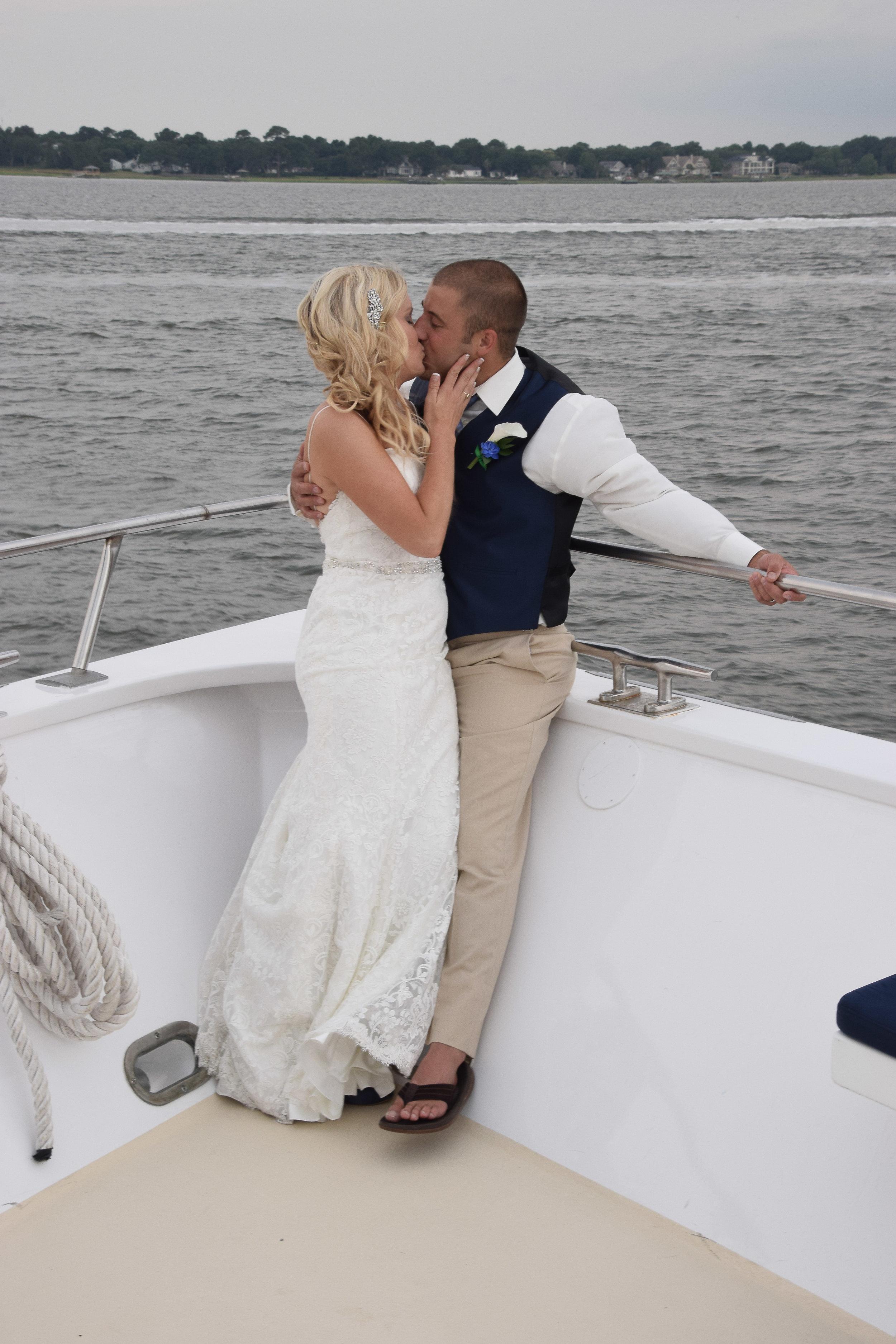 Wedding kiss, Carolina Girl, Charleston, SC.